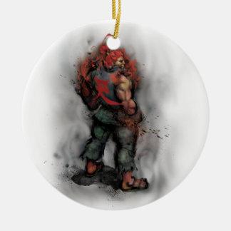 Akuma Back Double-Sided Ceramic Round Christmas Ornament
