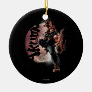 Akuma Double-Sided Ceramic Round Christmas Ornament