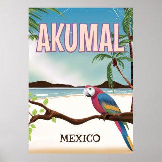 Akumal Mexico Beach travel postr Poster