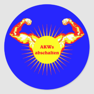 AKW AKW switch off nuclear power Classic Round Sticker