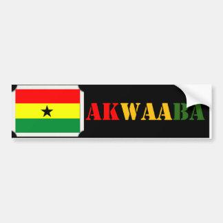 Akwaaba Ghana Bumper Sticker