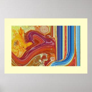 Al Aakhir Allah  name Abstract Paintiong Print