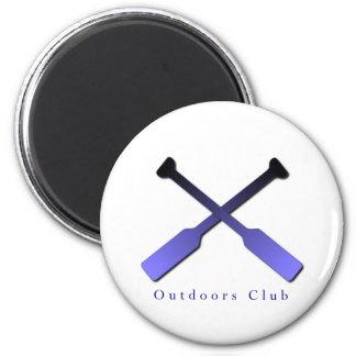Al aire libre diseño del club imán redondo 5 cm