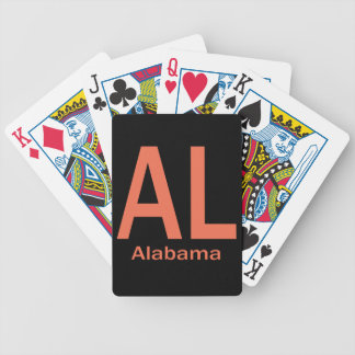 AL Alabama plain orange Bicycle Playing Cards