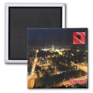 AL - Albania  - Tirana - Night 2 Inch Square Magnet