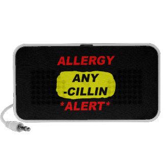 Al alerta del diseño de la alergia de los deriviti iPod altavoz
