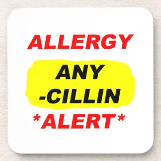 Al alerta del diseño de la alergia de los deriviti posavasos de bebidas