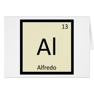 Al - Alfredo Pasta Chemistry Periodic Table Symbol Greeting Card