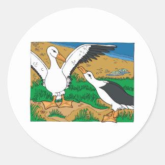 Al & Ally Albatross Classic Round Sticker
