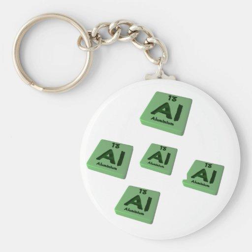Al Aluminium Basic Round Button Keychain