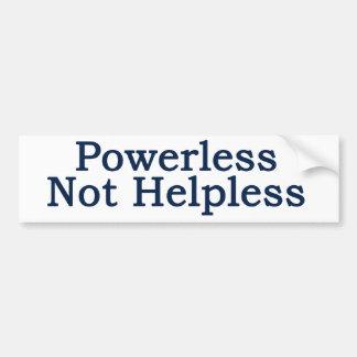Al-anon - Powerless, Not Helpless Bumper Sticker