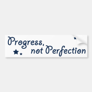 Al-anon - progreso, no perfección pegatina para auto