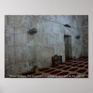 Al-Aqsa interior de Masjid Póster