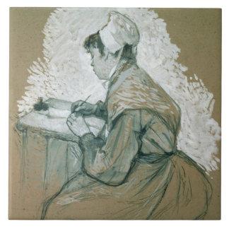 """Al autor de St. Lazare, 1886-89"", s posible Azulejo Ceramica"
