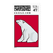 AL- Awesome Polar Bear Postage Stamps