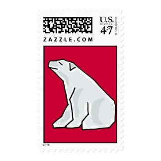 AL- Awesome Polar Bear Postage Stamps