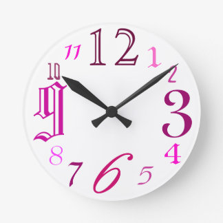 Al azar (rosa) reloj de pared