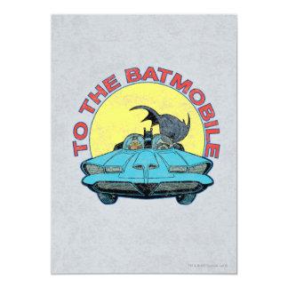 """Al Batmobile - icono apenado Invitación 5"""" X 7"""""""