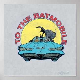 Al Batmobile - icono apenado Póster