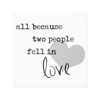 al because two people fell in love modern simple canvas print