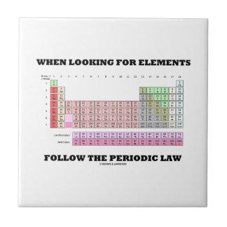 Al buscar elementos siga la ley periódica azulejo cerámica