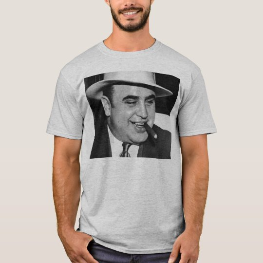 Al Capone Black and White T-Shirt
