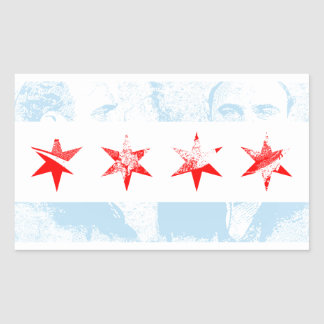 Al Capone Chicago Flag Rectangular Sticker