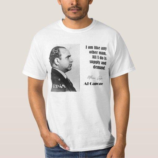 Al Capone en negocio - camisa del gángster