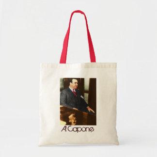 Al Capone - la cara real de la cicatriz Bolsa Tela Barata