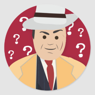 Al Capone (Simple History) Classic Round Sticker