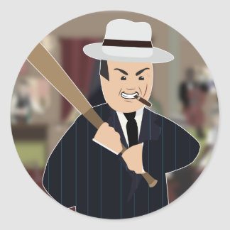 Al Capone(Simple History) Classic Round Sticker