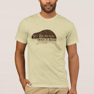 Al castor o no beaver playera