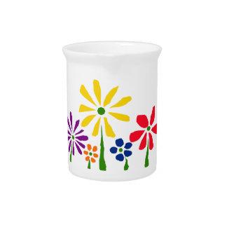 AL- Cheerful Daisy Floral Art Pitcher