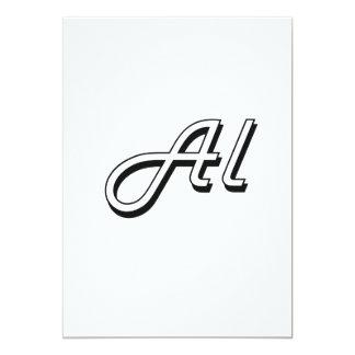 Al Classic Retro Name Design 5x7 Paper Invitation Card