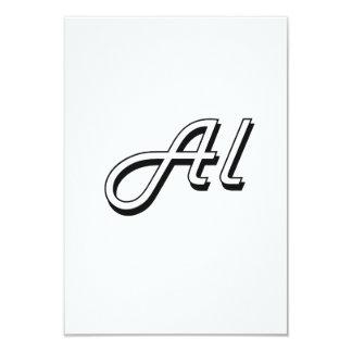 Al Classic Retro Name Design 3.5x5 Paper Invitation Card