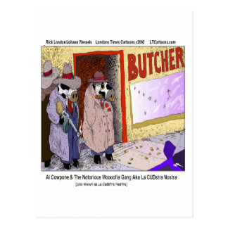 Al Cowpone & The Moofia Gang Funny Cows Postcard