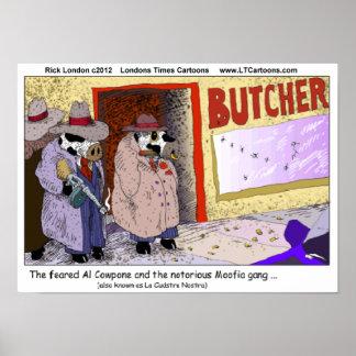 Al CowPone y el poster divertido de la vaca de la Póster