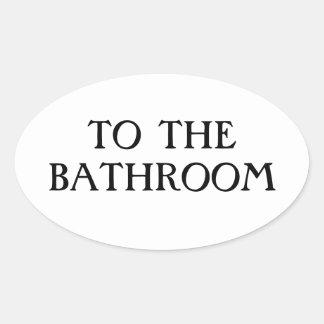 Al cuarto de baño colcomanias de óval