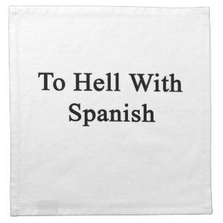Al diablo con español servilletas