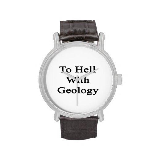 Al diablo con la geología relojes