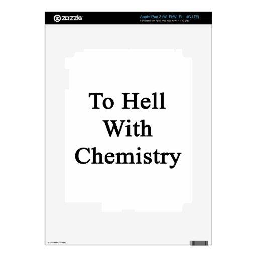 Al diablo con química iPad 3 pegatinas skins