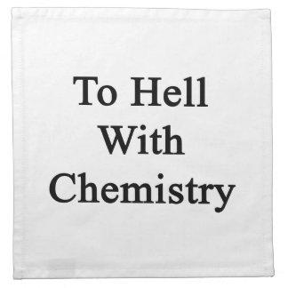 Al diablo con química servilleta de papel