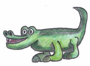 Cartoon Alligator Baby Tops T Shirts Zazzle