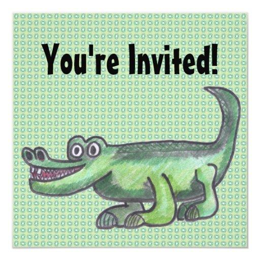 AL-E-GATOR Cartoon Invitations