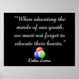 Al educar las mentes - cite el poster