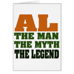 ¡Al - el hombre, el mito, la leyenda! Tarjetas