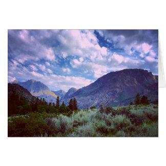 Al este de Yosemite Tarjeta De Felicitación