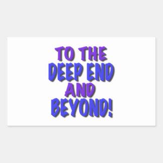 ¡Al extremo profundo y más allá! , camisetas, rega Pegatinas