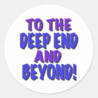 ¡Al extremo profundo y más allá! , camisetas, rega Etiqueta