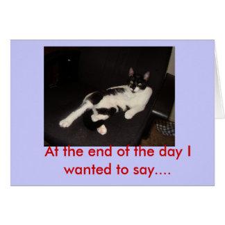 Al final del día quise… tarjeta de felicitación